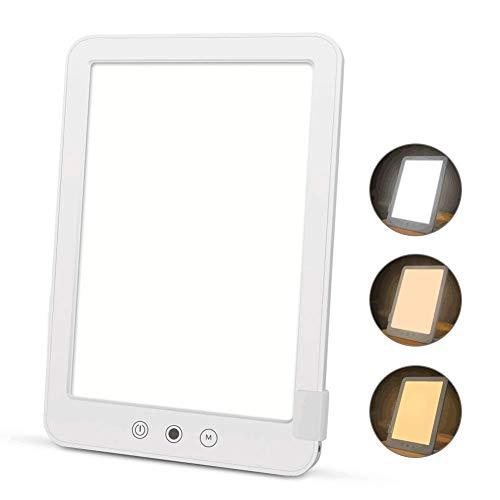 Tageslichtlampe 10000 Lux LED Tageslicht, Lichttherapie Energy Up, gegen Depressionen, simuliert Tageslicht, Dimmbar Lichttherapielampe 3 Farben