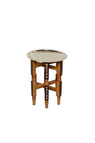 Orientalischer Tisch Iman 40cm goldfarbig (Wohnzimmer Möbel Marokkanisches)