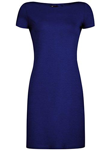 oodji-ultra-mujer-vestido-de-punto-con-escote-barco-azul-es-44-xl