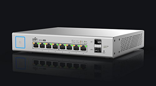Ubiquiti US-8-150W Switche Managed PoE + Gigabit-Switch mit SFP weiß