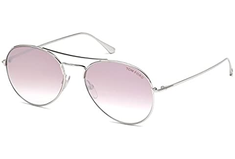 Tom Ford - ACE-02 FT 0551, Aviator, metal, men, SILVER/PINK SHADED(18Z), 55/17/145