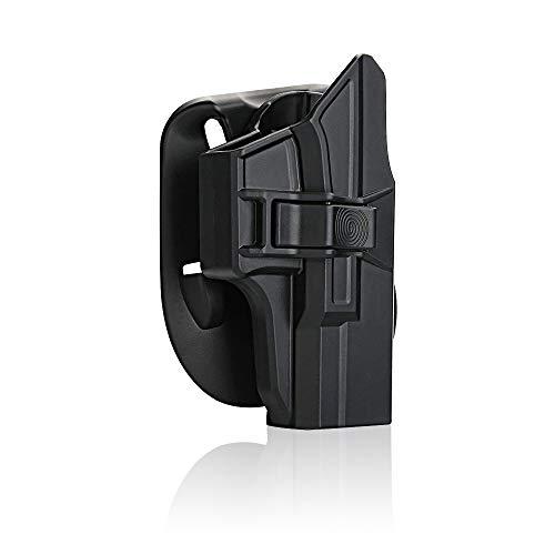efluky Holster Pistola Molle Pistolera Airsoft Gun Holster para Glock 19 23 32(Gen1-5), Glock 19X, Glock 45, Paddle 60°Adjustable