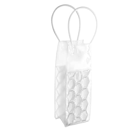 Can / Wine / Champagne Bottle Ice Bag - Cooler Cooling Holder Gel Carrier Chilling (Clear)