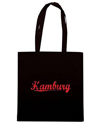 T-Shirtshock - Borsa Shopping OLDENG00522 hamburg vintage Nero