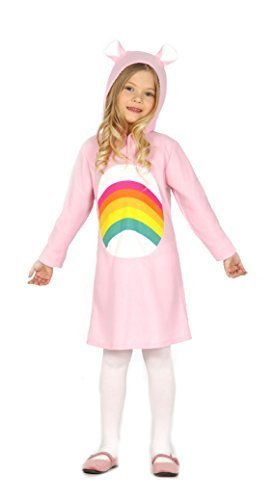 Mädchen Rainbow Care Bear Pink My Little Pony Kostüm, 3-9Jahre - Pink, 5-6 (Bears Kostüm Care)