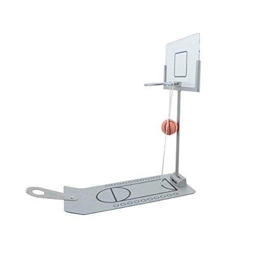 STOBOK Mini Basketballspiel Desktop Basketball Spielzeug Fingerschießen Spiel Schule Büro Entspannen Spiel (Silber) (Desktop-basketball-spiel)