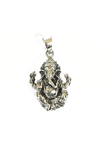 La Conchiglia-Ciondolo Pendente Piatto Ganesh Ganesha Divinità 2,5 Cm Argento 925