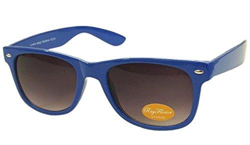 NAVY Retro Fashion Designer Geek Nerd NHS Big Rave Party Brille groß Wayfarer Hot (Medium Größe)