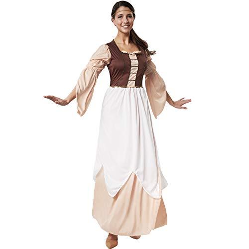 Narren Kostüm Mittelalterliche - dressforfun 900549 - Damenkostüm schöne Müllerstochter, Mittelalterliches Kostüm in warmen Farben (XL | Nr. 302526)