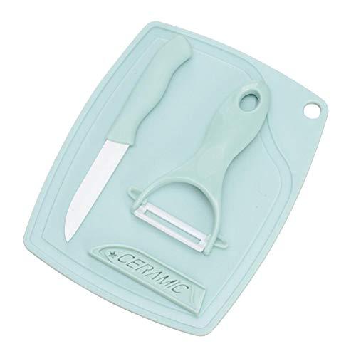 BESTONZON 3 stücke Mini Peeler Messer Set Griff Sharp Peeler Keramik Parer Messer Set Kochen Werkzeuge - Parer Set