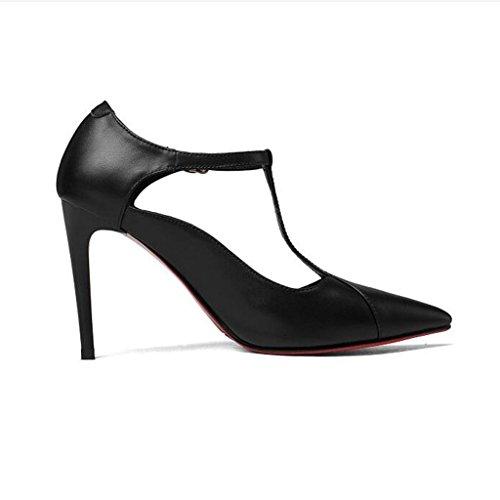 W&LM Scarpe da donna T-scarpe da donna Scarpe basse Scarpe singole Tacchi alti Black