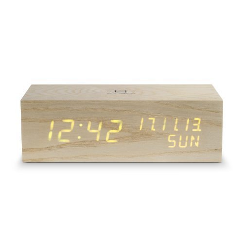 Gingko GK506 Musik-Digitaluhr 'Click Clock' mit oranger LED-Anzeige