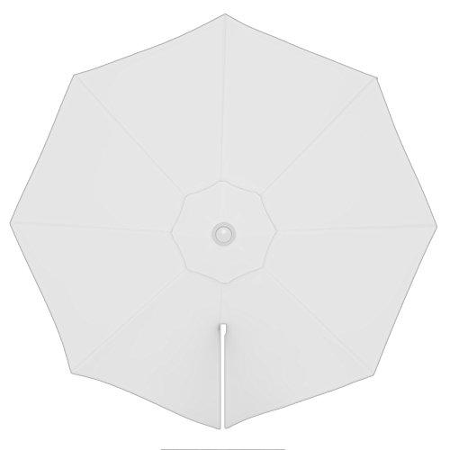PARAMONDO Tela de recambio para Sombrilla Parasol PARAPENDA incl. Air Vent (3,5m / redonda), blanco