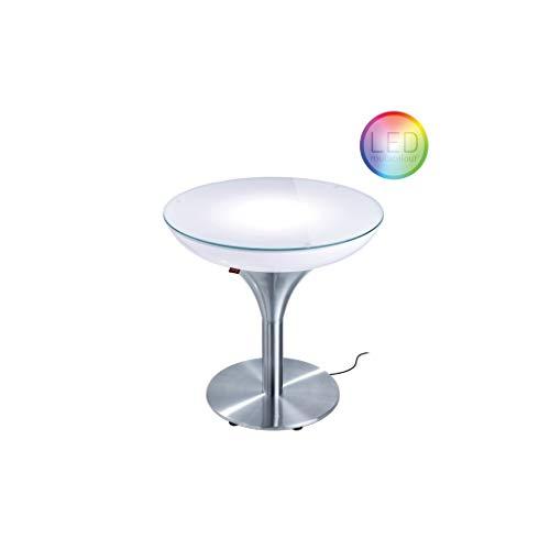 Moree Table Basse Lounge M 55 Outdoor - avec éclairage LED Pro et télécommande