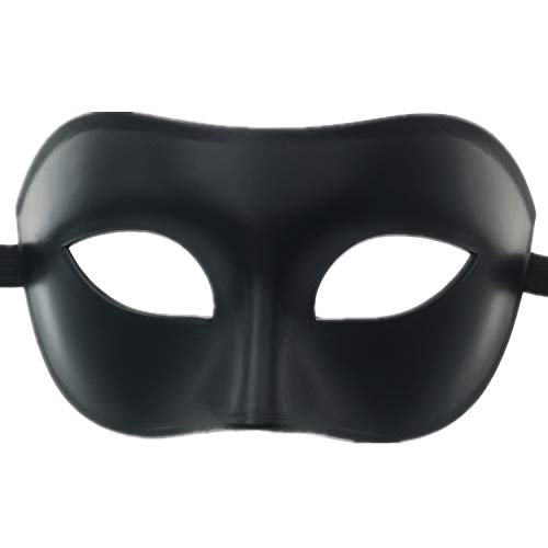 Schwarz Männer Einfache Kostüm - Ubauta Maskerade Maske für venezianische männer kostüm Maske / Party / Ball Prom / Halloween / Karneval / Hochzeit (Schwarze hälfte Gesicht)