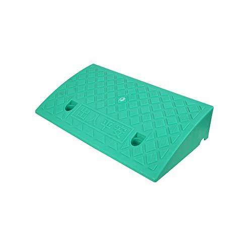 ieck-Steigungs-Auflage, rutschfeste Bremsschwelle-Multifunktionsauto-Garagentor-Aufstieg widerstehen Spannungs-Rampen-Matten-Höhe: 7-13CM (Color : Green, Size : 50 * 27 * 13CM) ()