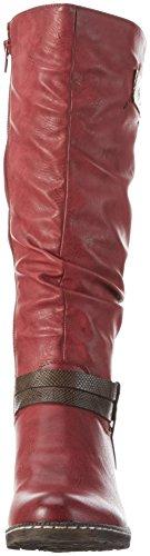 Rieker Damen 93758 Langschaft Cowboystiefel Rot (Wine/Nougat/mogano / 35)