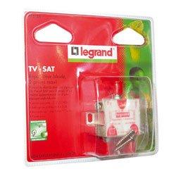 Legrand LEG91035 Répartiteur TV-FM-SAT 2 sorties f pour alimenter 2 prises