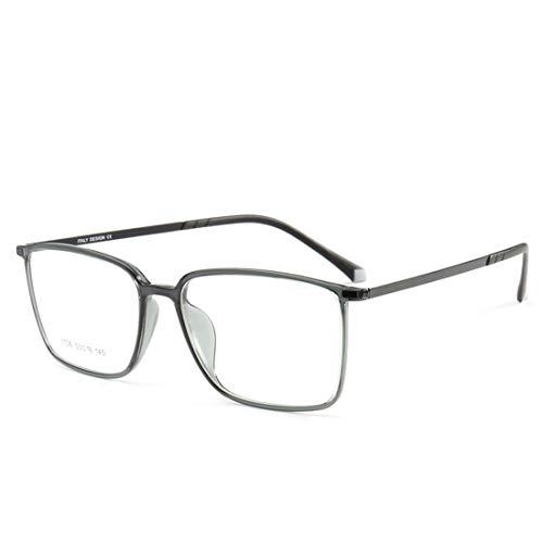 Shiduoli Brillengestell leichte Stahlrahmengläser für Männer und Frauen, Nicht verschreibungspflichtige Brillen (Color : Gray)