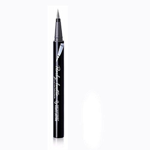 Eyeliner-Liquid,Eyeliner Pen Maquillage Cosmétique,,Eyeliner Waterproof,PowerFul-LOT Beauté Noir Étanche Eyeliner Liquide Eye Liner Stylo Crayon Maquillage Cosmétique Nouveau (Argent)