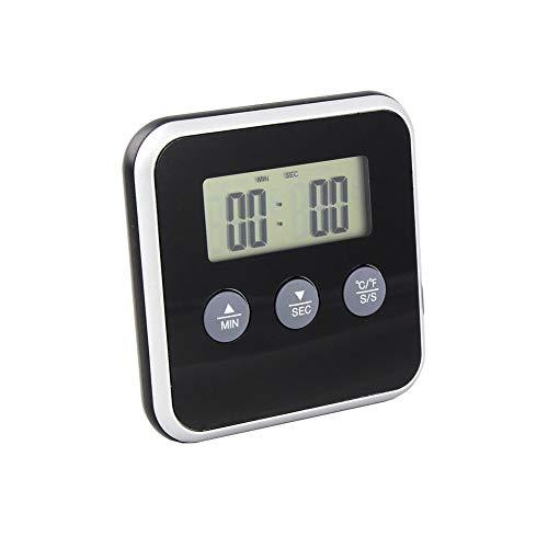 Steellwingsf termómetro digital inalámbrico impermeable para barbacoa, para cocinar carne, comida, horno, alarma multicolor