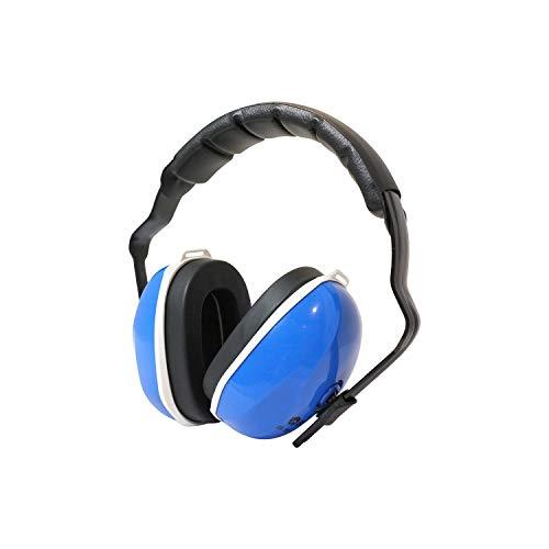 Viwanda Berlin Blaue Kapselgehörschützer Lärmschutz SNR 27dB, NRR 22dB CE EN 352-1 / Reach - verstellbar komfortabel Gehoerschutz für Erwachsene Kinder