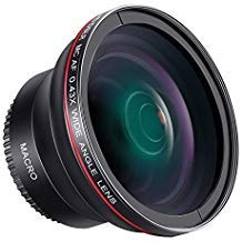 Neewer 58mm 0, 43X HD Objectif Grand Angle avec Macro Close-up Portion Objectif pour Canon EOS Rebel 700d 650d 600d 550d 500d 450d 400d 350d 100d (T5i T4i T3i T2i T1i XSi)