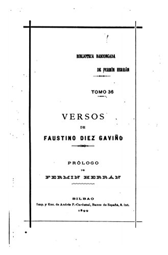 Versos - Tomo 36 por Faustino Díez Gaviño