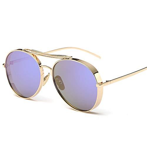 Sonnenbrillen. Retro Pilot Sonnenbrille Frauen Gespiegelt Steampunk Runder Kreis Schattierungen Vintage Outdoor Reisen Sommer Staub Uv400 Gold Violett