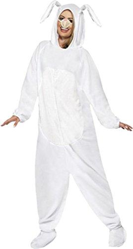 ncy Party Kleid Animal Outfit weiß Ostern Bunny Kaninchen Kostüm, Weiß (Bunny Outfits Für Erwachsene)