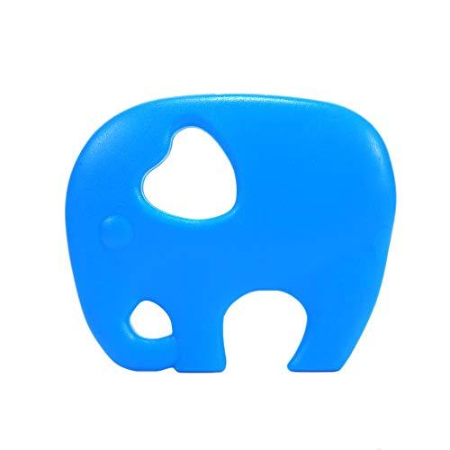 Nrkin Elefant Beißring Schnuller Silikon Spielzeug Kinderkrankheiten Spielzeug Leichtigkeit Kinderkrankheiten Beißring DIY Zubehör für Neugeborene Baby-Dusche - Elefanten-dusche