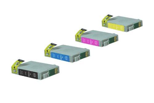 Preisvergleich Produktbild Epson Stylus SX 410 (T0715 / C 13 T 07154010) - kompatibel - Tintenpatrone MultiPack (schwarz, cyan, magenta, gelb)