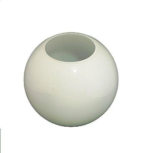 17.5cm diametro sostituzione sferico globe paralume in vetro bianco. Senza collo. Apertura: 8.0cm diametro. Disponibile in altri dimensioni.