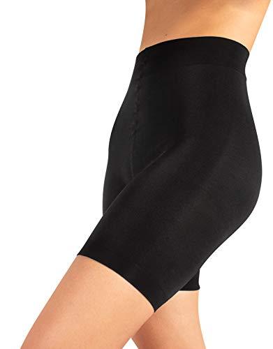 Guaina contenitiva e modellante, pantaloncino snellente, shaper & push up, nero & naturale, s m l xl (3 - m, nero)
