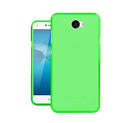 TBOC® Grün Gel TPU Hülle für Huawei Y6 II Compact - Y6II Compact - Y6 2 Compact (5.0 Zoll) Ultradünn Flexibel Silikonhülle (Nicht kompatibel mit Huawei Y6II 5.5 Zoll)