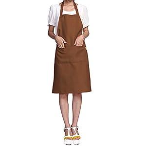 y.ite Ölfeste Schürze mit Tasche für Zuhause, Küche, Restaurant, Café, Haus coffee