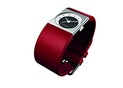 Rosendahl 43262 - Reloj de mujer de cuarzo, correa de goma color rojo