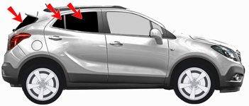 Autosonnenschutz Tönung UV-Schutz Mokka-X Bj.ab 2016 Art. 25113-5