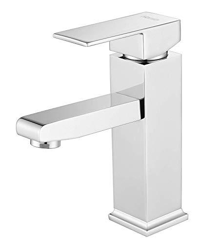 Homfa Waschtisch-Einhebelmischer Waschtischarmatur Chrom Hochdruck Wasserhahn Bad Wasserhahn Spültisch Küche 3/8Zoll-Standard-Port
