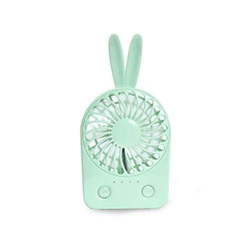 YS-FeiTeng Mini Handheld Fan Einfacher Mini Fan Desktop USB Fan Büro Mini Fan Tragbares Ladegerät Handheld Cartoon Bunny Kleiner Fan (Farbe : B)