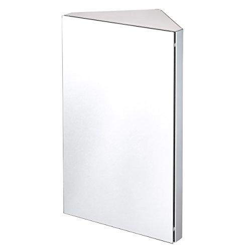 Lyndan-Eck-Wand montiert Edelstahl Spiegel badezimmerschrank mit 3Regalen