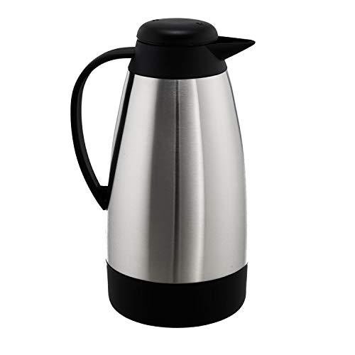 Steinbach Isolierkanne Mataure | ca. 1 L | Thermoskanne | Edelstahl | Einhandhebel | Kaffeekanne | Teekanne