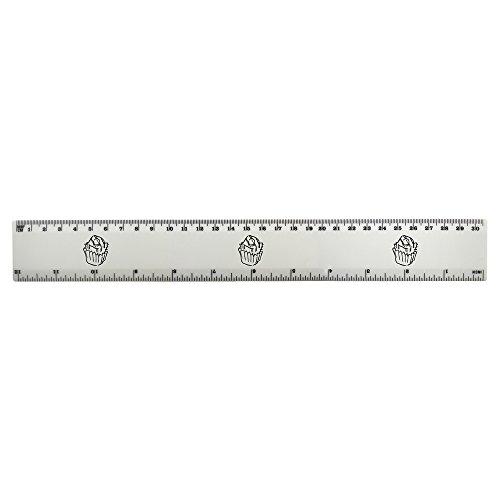 Azeeda 'Fondant Fancy' 30cm (12 Zoll) weißer Kunststoff Herrscher (RL00010390)