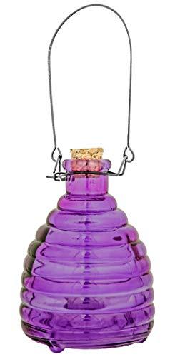 Kaemink Großer Wespen- und Insektenfänger aus Glas, 17 cm, Violett