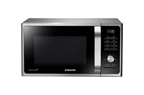Samsung MS28F303TAS/EG Mikrowelle/1000 W/28 L Garraum/16 Vitalprogramme/Silber/Eco Modus/Keramik-Emaille-Innenraum