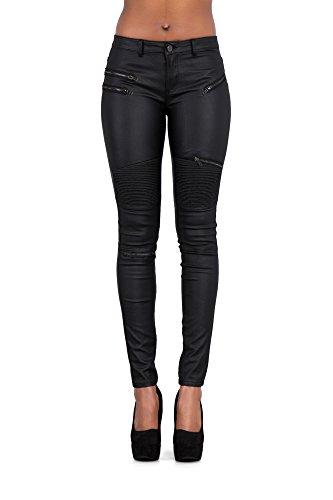 Kräftige schicke neue Frauen erotisches Radfahrer jeanskeuchen - nasser Blick dünnes Legging Jeanskeuchen, schwarz - Gr, 34 (Ag Angel Jeans)