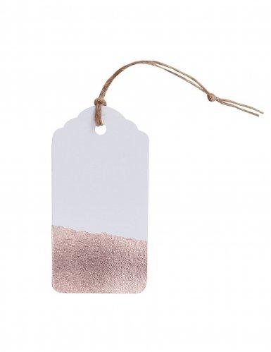 Papieranhänger | weiß, roségold