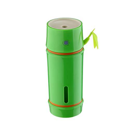 Umidificatori Muji Bamboo umidificatore Portatile USB luci Colorate da Auto Mini Idratante umidificatore (Color : Green)