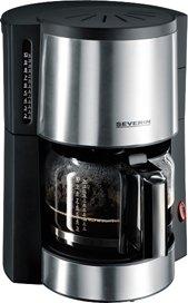 Kaffeeautomat, Edelstahl/schwarz, Leistung 1.000 Watt, Severin
