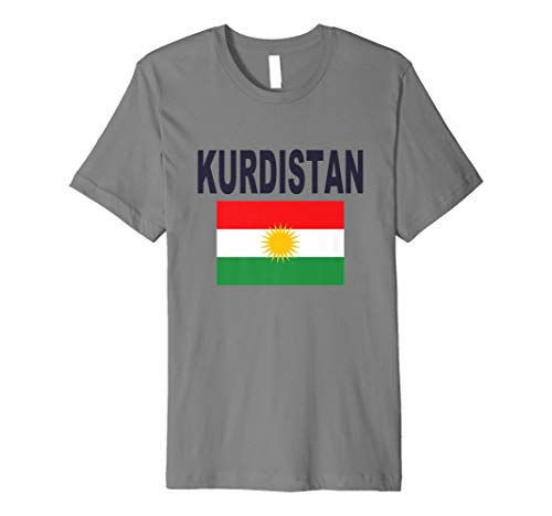 Kurdistan Flagge T-Shirt Kurden Kurdische Fashion Unisex Top Tee